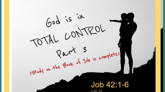 God is in Control - Job 42:1-6