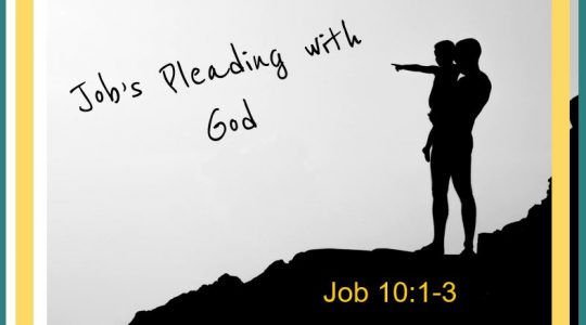 Job's Pleading with God - Job 10:1-3