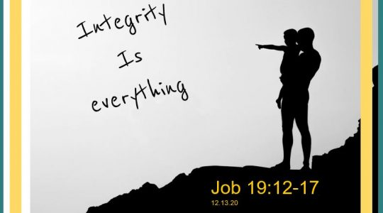 Integrity is Everything - Job 29:12-17