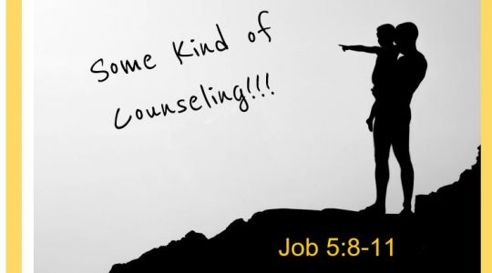 Some kind of Counseling - Job 5:8-11