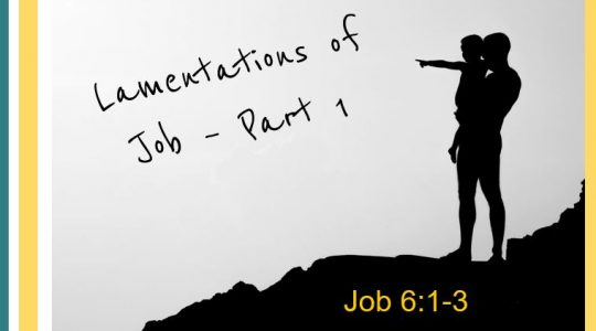 Lamentation of Job Part I - Job 6:1-3