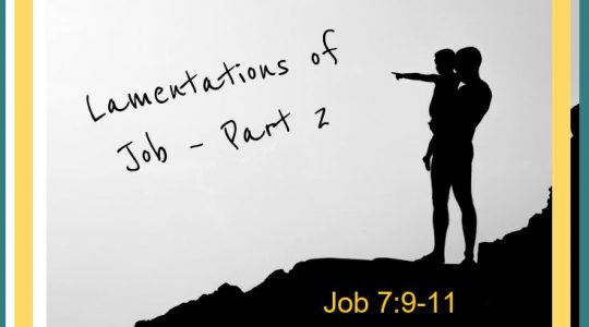 Lamentations of Job Part 2 Job 7:9-11