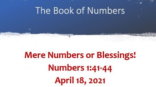 Mere Numbers or Blessings: Numbers 1:40-41