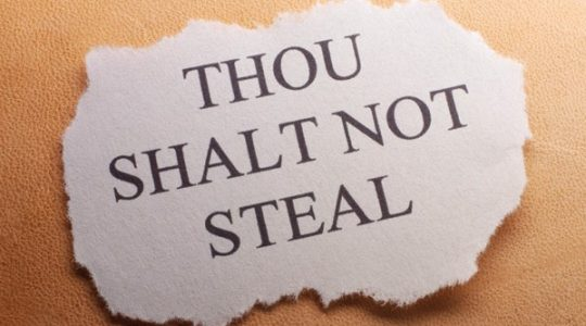 Thou shall not Steal - Part 8 July 2018