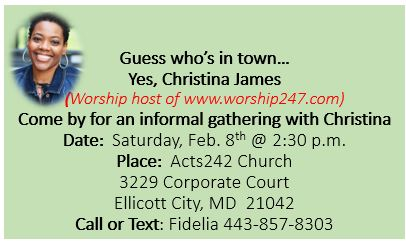 Women's Fellowship and a Time of Worship with Christina James