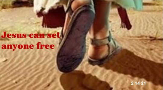 Jesus can set anyone free!  Mark 5:1-5