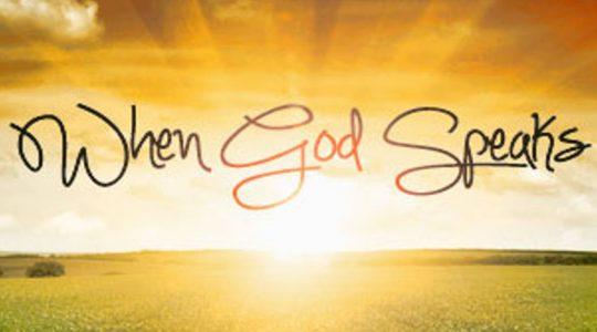 When God Speaks April 22, 2018